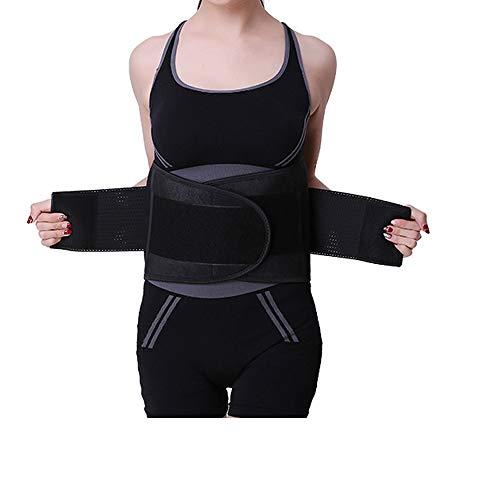 Hually Sports Cinturón de fitness para la salud lomo lumbar soporte de cintura de alta elasticidad respaldo cálido apoyo de descompresión cintura cinturón reductor de cintura cinturón deportivo