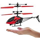 Shivsoft Plastic Hand Induction Control Flying Helicopter Toy with Infrared Sensor, USB Charger and Flashing Light for Kids (Multicolour)