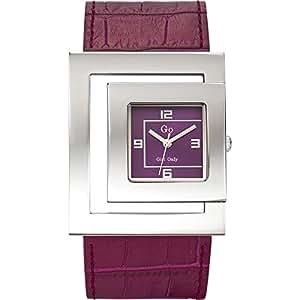 Go Girl Only - 696606 - Montre Femme - Quartz Analogique - Cadran Violet - Bracelet Cuir Violet