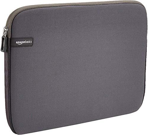 AmazonBasics 13.3-inch Laptop Sleeve - Internal Dimensions - 12.1 X 0.7 X 9.3 Inches - Grey