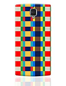 PosterGuy OnePlus 3 Case Cover - Multicolor checkered pattern | Designed by: DesignerChennai