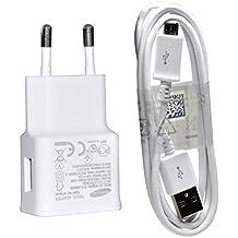 Cargador de red original Samsung - Micro USB – 2a Galaxy Note 2 N7100 - Blanco