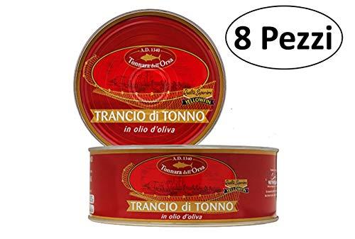 Tonno qualità superiore in olio di oliva tonnara dell'orsa 160gr prodotto in sicilia [confezione da 8]