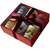 Yankee Candle Fruit Samplers -6 Pack including MANGO PEACH SALSA- Gift Wrapped in Red Box & red tissue.