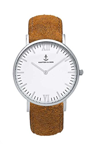 Kapten & Son Armbanduhr Campus 'Brown Vintage Leather'