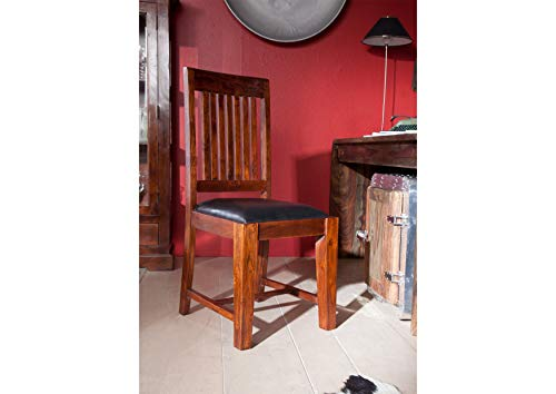 MASSIVMOEBEL24.DE Kolonialstil Stuhl mit Polster Akazie massiv Möbel Oxford #15