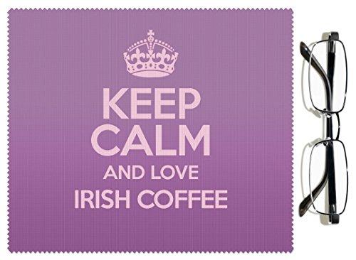 Violet Keep Calm and Love Irish Coffee Chiffon pour lentille couleur 2568
