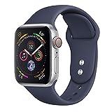 JUZIWEI Apple Watch Bracelet 40mm/44mm, Apple Watch Band Silicone Souple Sport Band Strap pour Apple Watch Série 1 Série 2 Séries 3 Séries 4, Variété de Couleurs Disponibles,blue40mm,5.5''to6.7''