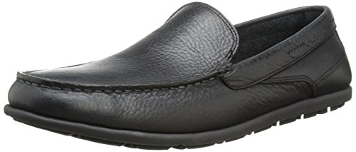 Liscio on Nero Loafer Veneziano Slip Rockport 3 Lane Mens Bennett UwqFOz