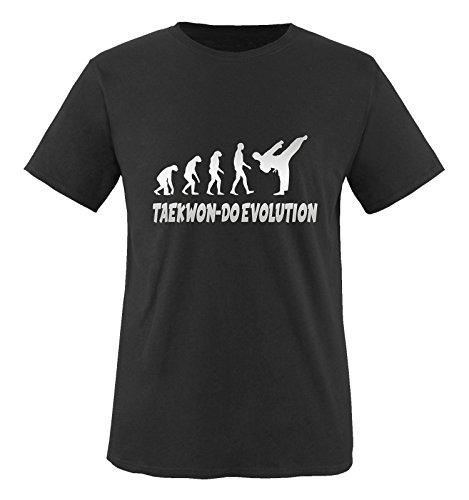Comedy Shirts - Taekwon-DO Evolution - Mädchen T-Shirt - Schwarz/Silber Gr. 152-164