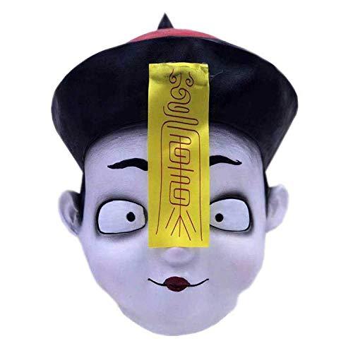 Chinesischen Mann Kostüm Halloween - SCLMJ Latex Maske Halloween,Lustige Neuheit Kreative
