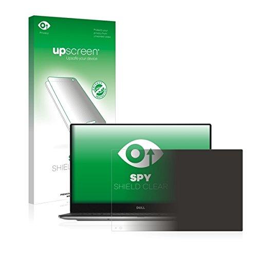 upscreen Spy Shield Clear Blickschutzfolie / Privacy für Dell XPS 13 9360 (Sichtschutz ab 30°, Kratzschutz, selbstklebend)