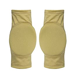 golden color, S : Figure Skating Ice Skating Elbow Protector Pad Sports Safety Supporter Protective Mat Protection 15mm Thick Customized Size