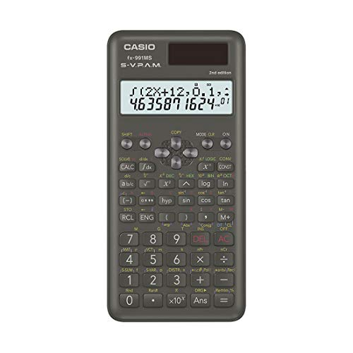 Buy Casio FX-991MS 2nd Gen Non-Programmable Scientific Calculator, 401 Functions and 2-line Display online in India at discounted price
