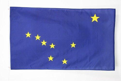 AZ FLAG Flagge Alaska 90x60cm - Bundesstaat Alaska Fahne 60 x 90 cm - flaggen Top Qualität
