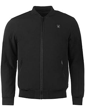 Firetrap Bomber chaqueta para hombre color negro chaquetas abrigos Outerwear, negro, small