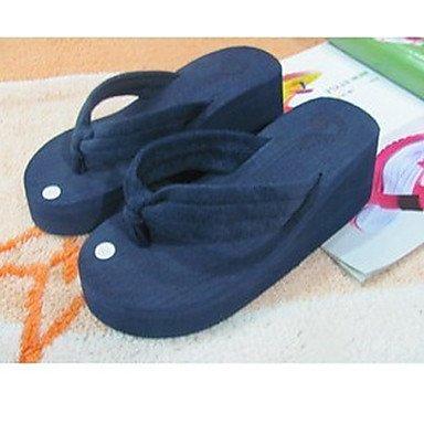Da donna?s PVC scarpe tacco piatto infradito pantofole per esterno nero / blu / verde / rosso / blu marino / arancio US8.5 / EU39 / UK6.5 / CN40