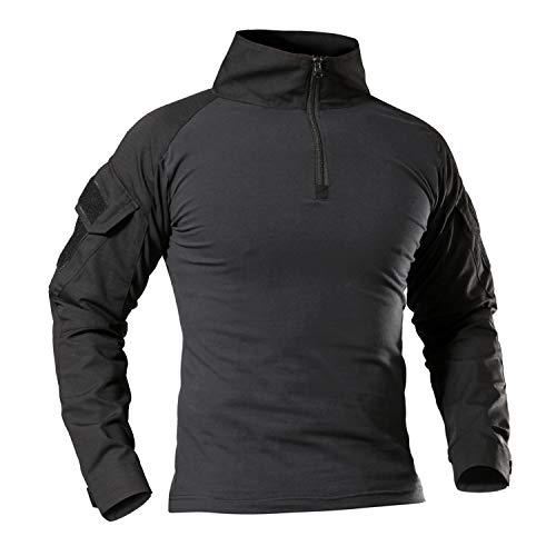 7vstohs camicie a maniche lunghe da uomo camicie da tiro da escursionismo camicie militari da combattimento slim fit