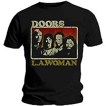 Producto oficial de T-camiseta de manga corta de THE DOORS de LA Alianza Vintage diseño de mujer Jim Morrison LA todos los tamaños