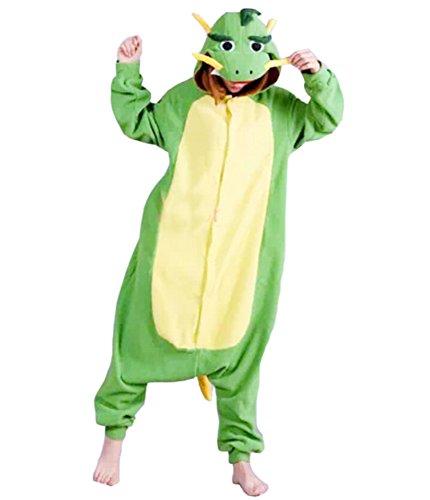Onesies mit Kapuze Erwachsene Unisex Cospaly Schlafanzug Halloween Kostüm Chinese Drache Geeignet für Hohe 160-175CM (Genie Halloween-kostüm Für Erwachsene)