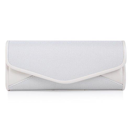 Damara Ganz Simple Edle Damen Handtasche,Weiß (Braut-damen Handtasche)