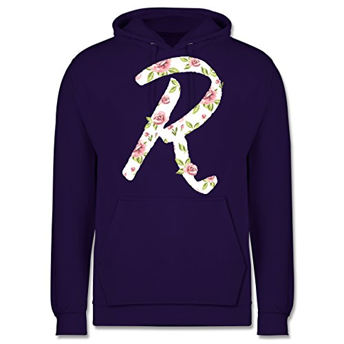 Anfangsbuchstaben - R rosen - Männer Premium Kapuzenpullover / Hoodie Lila
