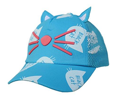 Smile YKK Enfant Vogue Oreille de Chat Casquette Solaire Chapeau de Baseball Bleu