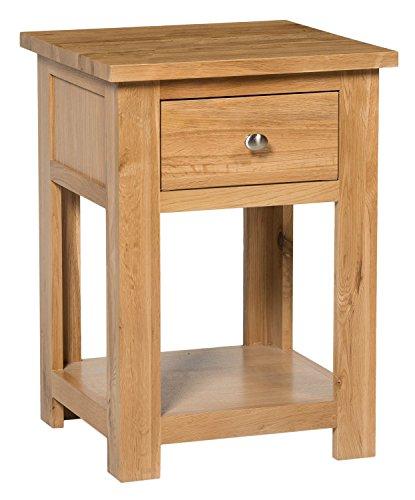 7292fe79c722 Waverly Oak 1 Drawer Small Side Telephone Bedside Table in Light Oak Finish