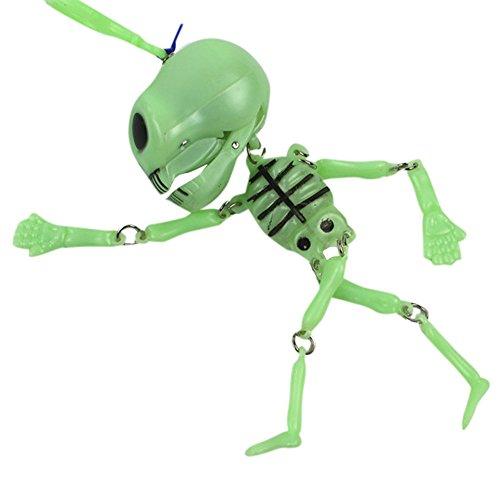 VEMOW Heißer Halloween Dekorationen Kinderspielzeug Bewegen Die Nacht Licht Kleine Skeleton Regal Schlüsselanhänger Ghost Promotions(Grün, 5 x 16 cm)