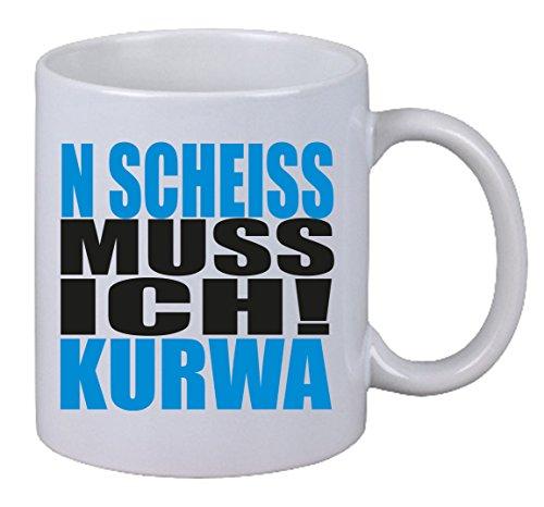 """Kaffee Tasse """"N Scheiss muss ich Kurwa"""" Polen Gag Polish Polnisch Fun Spruch LOL"""