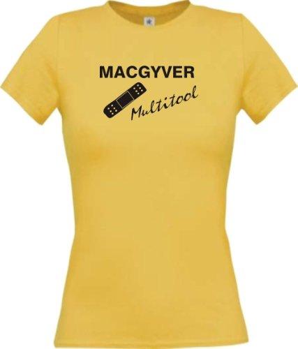shirtinstyle-lady-shirt-mac-gyver-multitool-pflaster-funstuff-farbe-gelb-grosse-xl