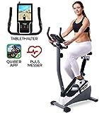 Miweba Sports Ergometer ME300 Trimmrad Cardio Heimtrainer - App Steuerung - 10 Kg Schwungmasse -...