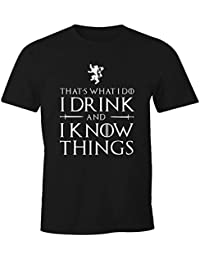 Game of Thrones T-Shirt I Drink and I Know Things GoT Tyrion Lannister Party Bar
