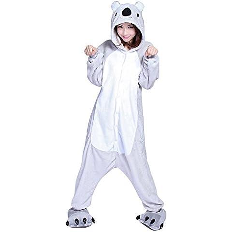 Moollyfox Kigurumi Pijamas Unisexo Adulto Traje Disfraz Adulto Animal Pyjamas Koala S