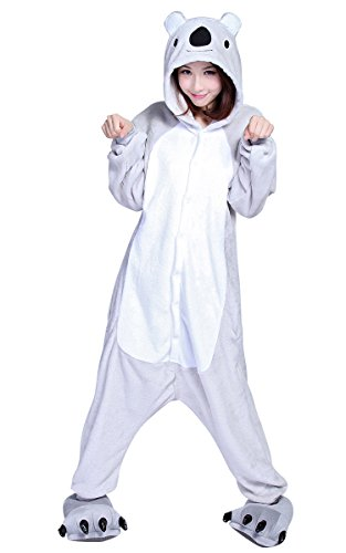 Ferrand Kigurumi Pigiama Unisex Adulto Cosplay Costume Animale Pigiama Dinosauro Verde Koala