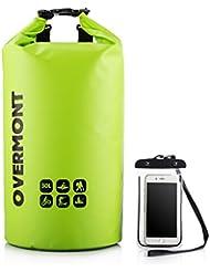 Overmont 20L/30L Sac étanche de rangement Sac Poche imperméable en 500D PVC Tarpaulin + housse étanche de téléphone (≤5,5 pouces) pour camping, randonnée, activités en plein air, sports aquatiques etc.