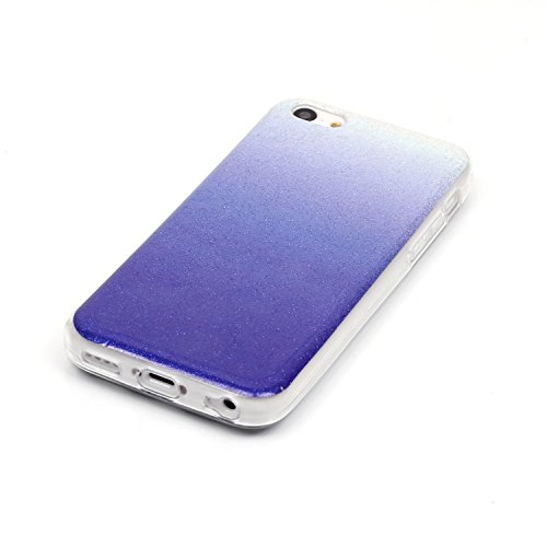 Beiuns pour Apple iPhone 5C (4 pouces) Coque en Silicone TPU Housse Coque - N226 argent N224 bleu foncé