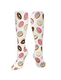 21ff3f98f Juzijiang Personalized Compression Socks,Cute Kittens Pink Hearts Lovely  Animal Design With Valentines Inspirations,