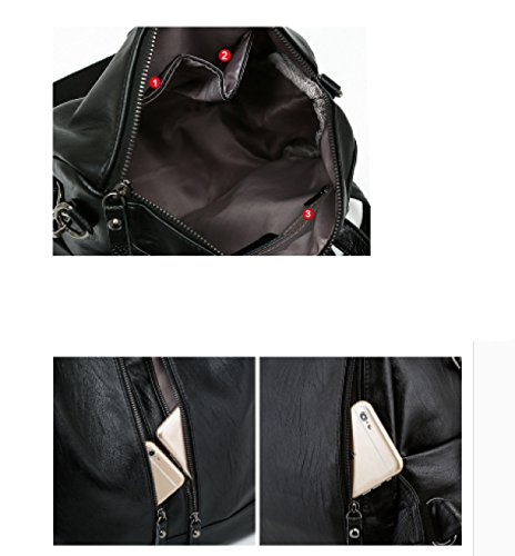 LAIDAYE Schulterbeuteldamen Arbeiten Rucksackdoppelfreizeitspielraumrucksackfrauen-Beutelbeutel-Schulterbeutel Um 3