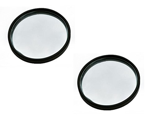 ManeKo Car Blind Spot Mirror Round Shape Convex Side Rear View Mirror Black Corner for Maruti Suzuki New Swift DZire All Models & Types - Set of 2  available at amazon for Rs.99