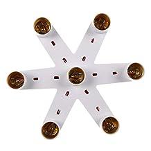 Flushzing 7 in 1 E27 splitter in 1 Multi Light Bulb Adapter Brandwerende Adapter Conventer voor Standard LED