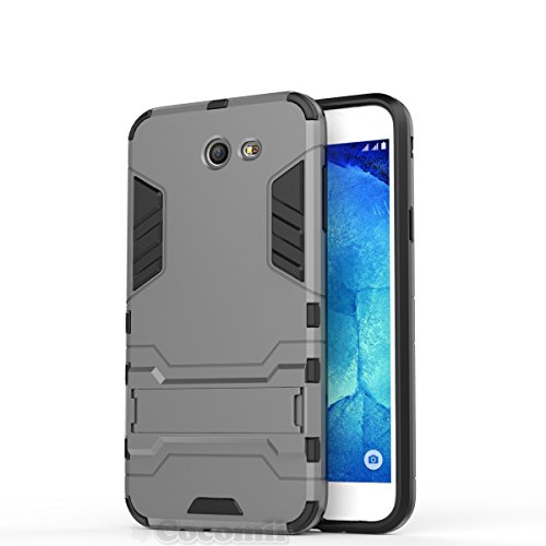 A/v-ständer Glas (Galaxy J7 2017 / J7 Prime / J7 V / J7 Perx / J7 Sky Pro / Halo Hülle, Cocomii Iron Man Armor NEW [Heavy Duty] Premium Tactical Grip Kickstand Shockproof Hard Bumper Shell [Military Defender] Full Body Dual Layer Rugged Cover Case Schutzhülle Samsung (Gray))