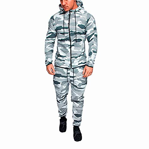 Sweatsuit Jacke Hose (Neue Männer Set Frühling Herbst Mann Sportbekleidung 2 Stück Sets Sportanzug Jacke + Hose Sweatsuit männlichen Trainingsanzug Asien Größe M-4XL)