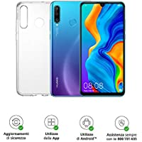"Huawei P30 Lite (Blue) Smartphone + cover trasparente, 4GB RAM, memoria 128 GB espandibile, Display 6.15"" FHD+, Tripla fotocamera posteriore da 48+8+2 MP, fotocamera anteriore 24 MP [Italia]"