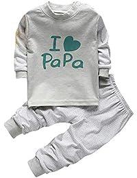 290fcb1b7 Bold N Elegant I Love Papa Mom Set Little Boy Girl Two Piece Set Full  Length Set Tshirt Pant Pyjama Set for Small…