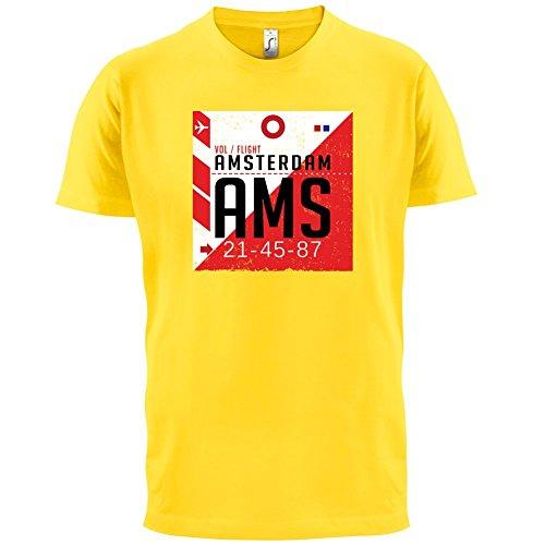 Amsterdam Flughafen - Herren T-Shirt - 13 Farben Gelb