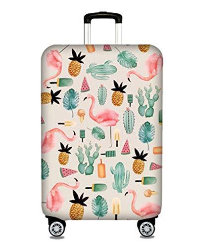 Kofferhülle Elastisch 18-32 Zoll Kofferschutzhülle Gepäck Cover Reisekoffer Hülle Kofferschutz Gepäckabdeckung Kofferschutzhülle mit Reißveschluss,Tropical Flamingo,L (25-28 Zoll)