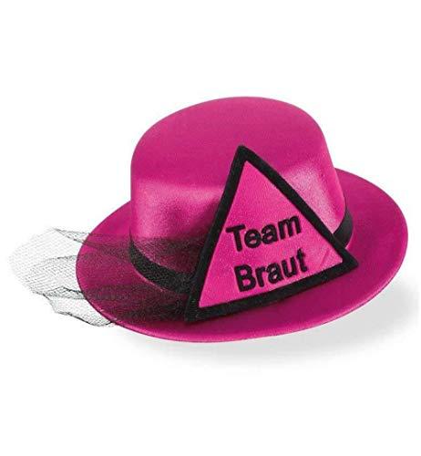KarnevalsTeufel Junggesellinnenabschied, Set für die Braut, Brautfreundinnen, Hochzeit, JGA Party Brautparty (Hut Team Braut) -