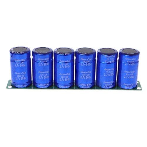 Bogji - Farad Kondensator 2.7V 500F 6 Stück / 1 Satz Super Kapazität mit Schutzplatine (Kondensator Car Kit)