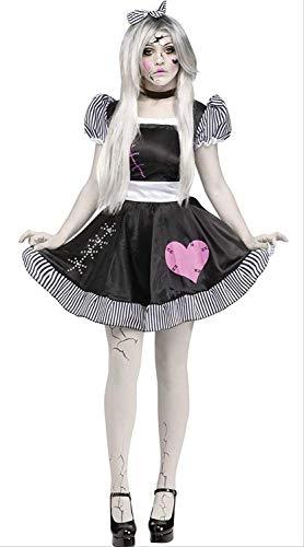 CHNWSJ Halloween Kostüme Corpse Bride Weiß Damen-Kostüm Halloween Canival Kleid Zombie-Abendkleid-Kugel-Fantasie